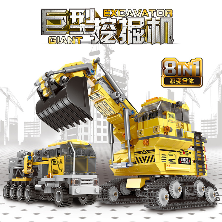 XingBao XB-13002 Giant Excavator 8 in 1 Review